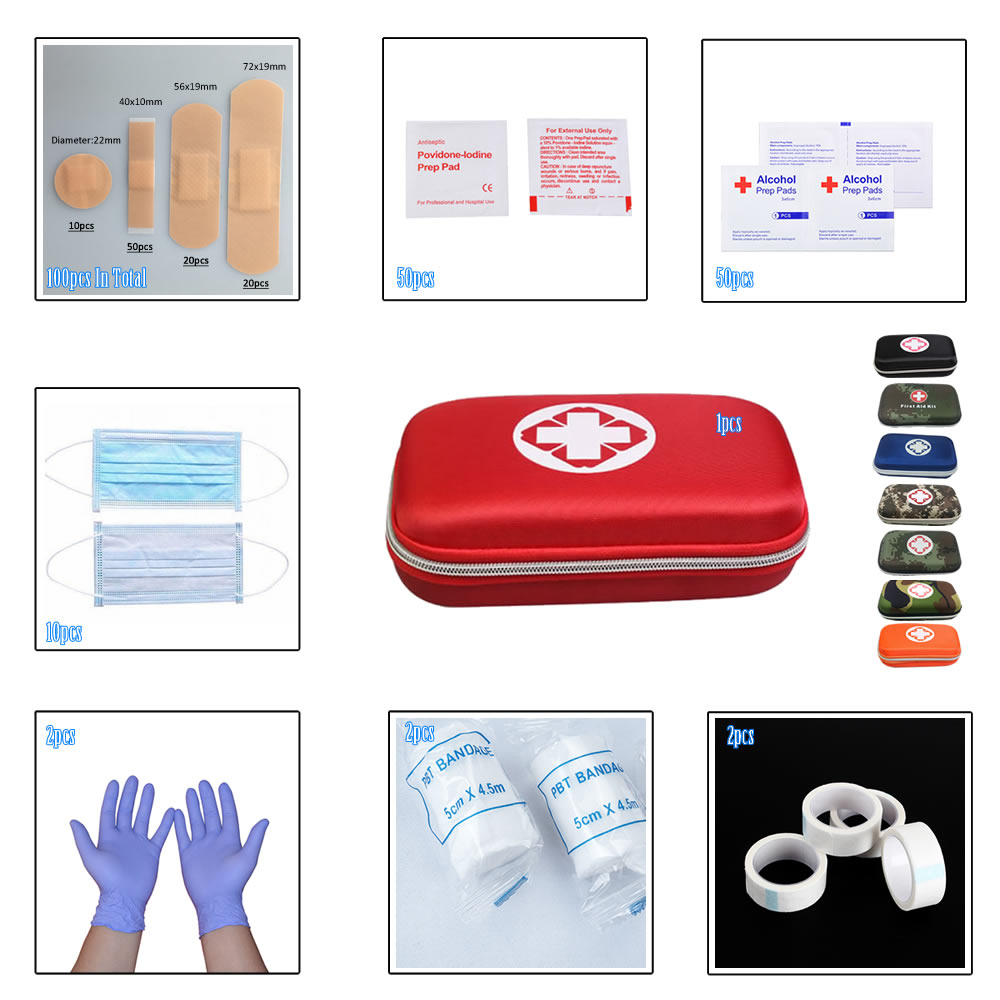 2020 New 217Pcs-In-1 First Aid Kit Portable Basic Protection For Home Family Outdoor Camping Travel Emergency Wound Treatment