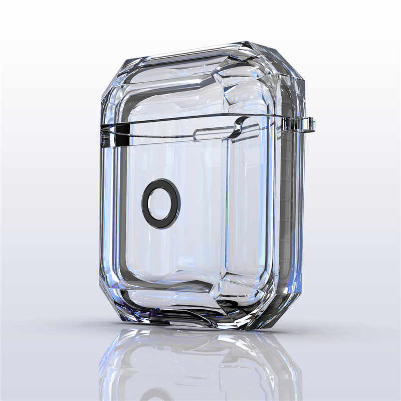 For Apple Airpods2 Case Clear Transparent Silicone Shockproof