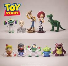 Figuras de acción de Disney Toy Story 4, Woody, Buzz Lightyear, Jessie, 4-9cm, 10 unidades/set, modelo coleccionable de Anime