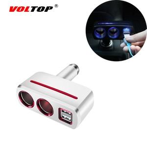 Image 2 - VOLTOP 1 Punto 2 Dual USB cargador de coche adornos de coche accesorios de carga de teléfono encendedor de cigarrillos