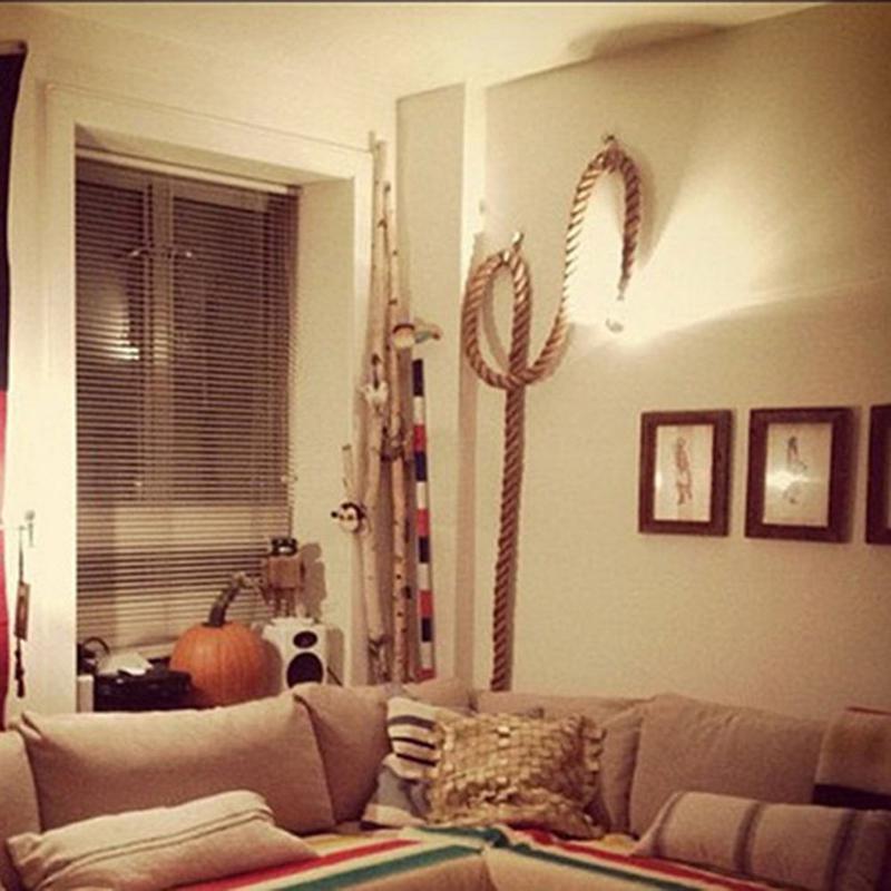 H05ea8ad44c3a4fe28d64942c3a423500f 1M Vintage Rustic Hemp Rope Ceiling Chandelier Wiring E27 220V Pendant Lamp Hanging Lights for Living Room Bar Decor