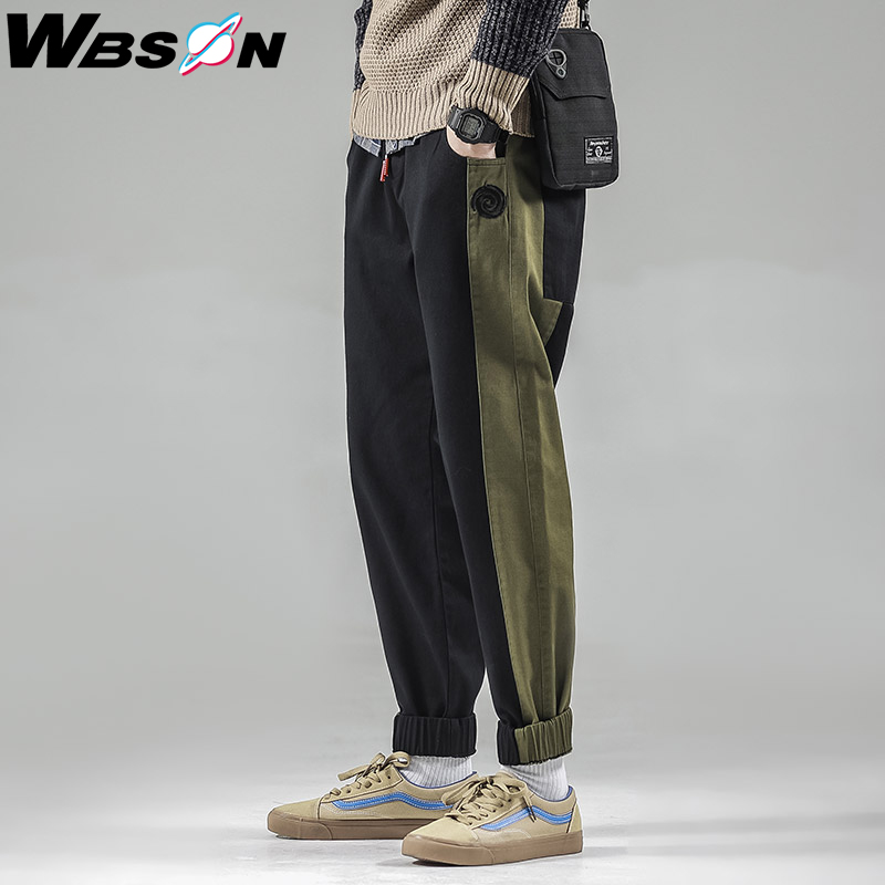 Wbson Jeans Mens Joggers Patchwork Casual Denim Pants Male Men's Casual Personality Denim Trousers Harem Pencil Pants SYG6605