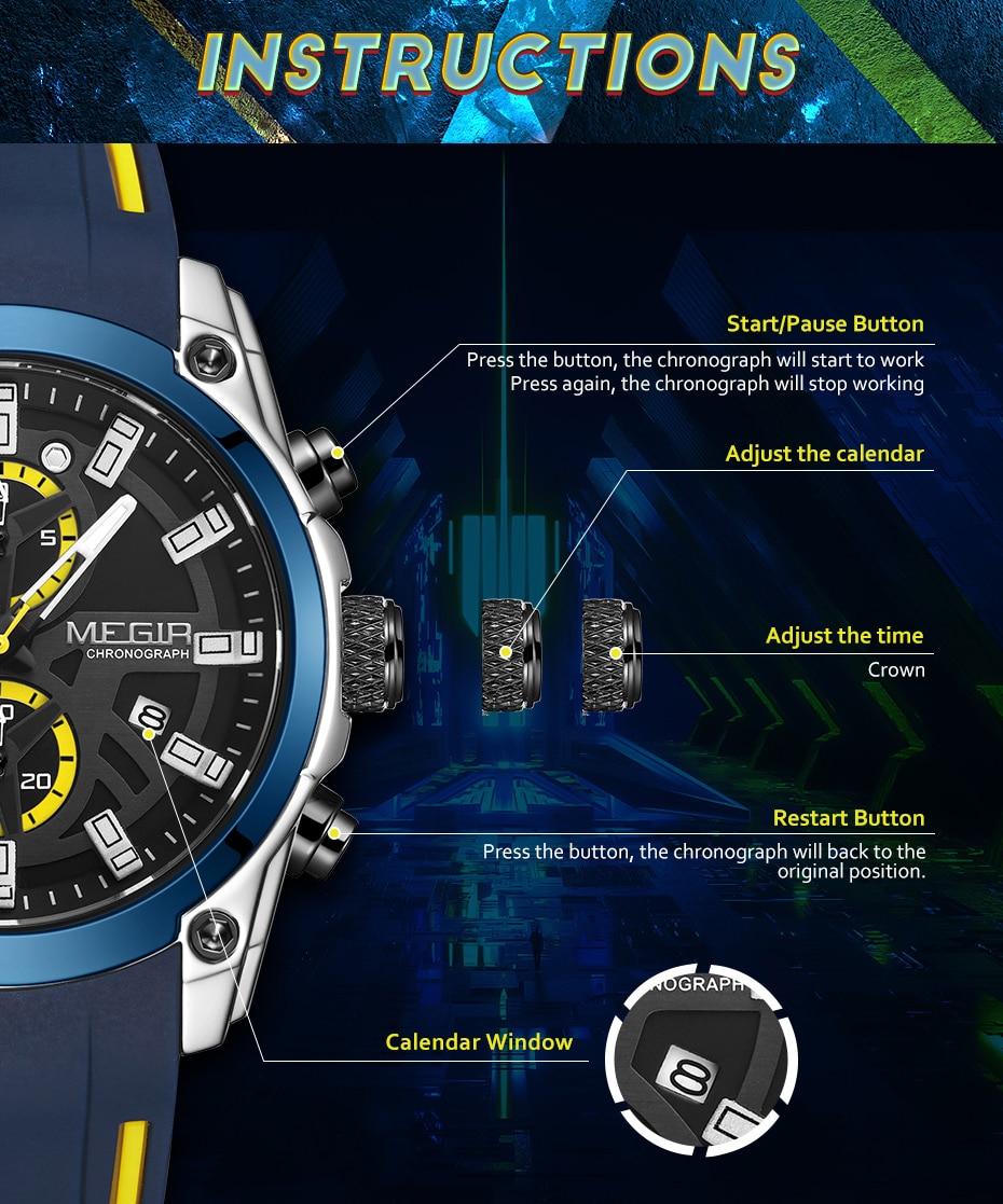H05eabef8a9ad462884a11bb7bd5c7a7fH MEGIR 2020 Blue Sport Watches for Men
