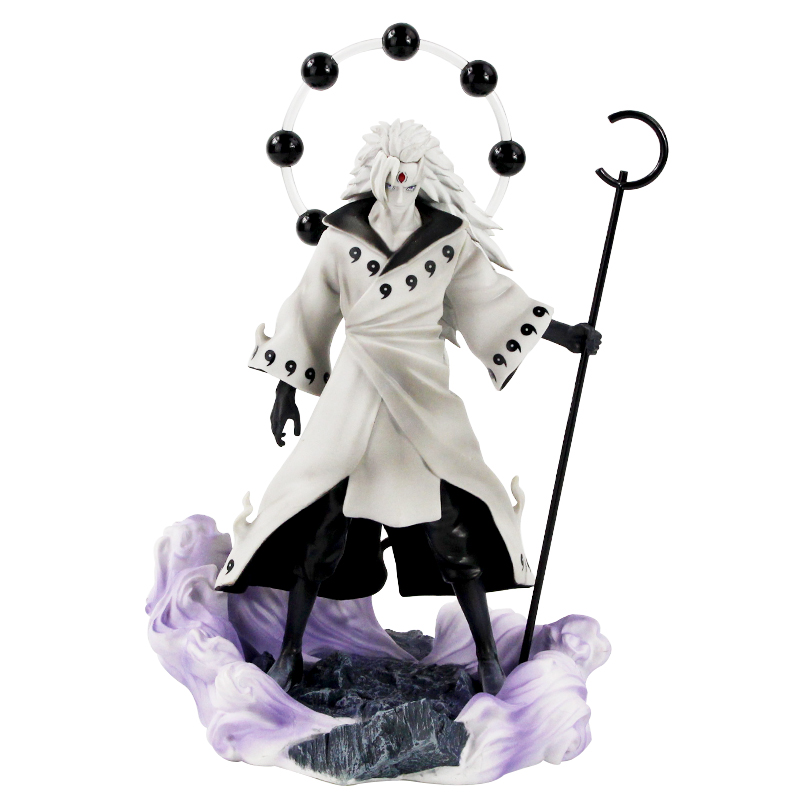 25-27cm Naruto Figure Statue Uchiha Obito Rikudou Sennin Decoration Toys PVC Collection Model Doll Gift 1