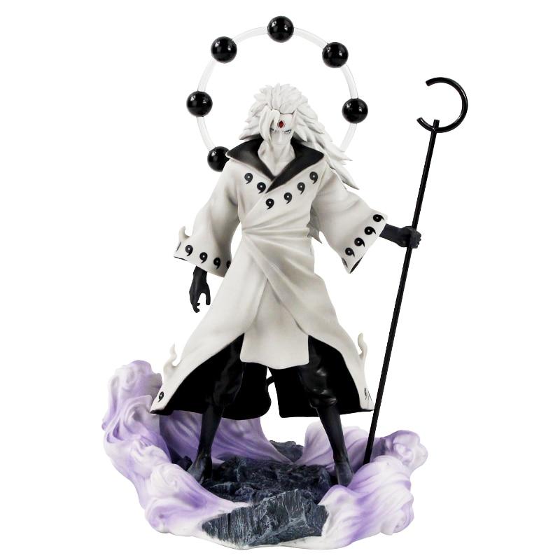25-27cm Naruto Figure Statue Uchiha Obito Rikudou Sennin Decoration Toys PVC Collection Model Doll Gift 1