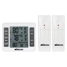 Thermomètre numérique LCD, compteur de température, Station météo intérieure et extérieure + transmetteur sans fil avec affichage de la valeur minimale maximale C/F