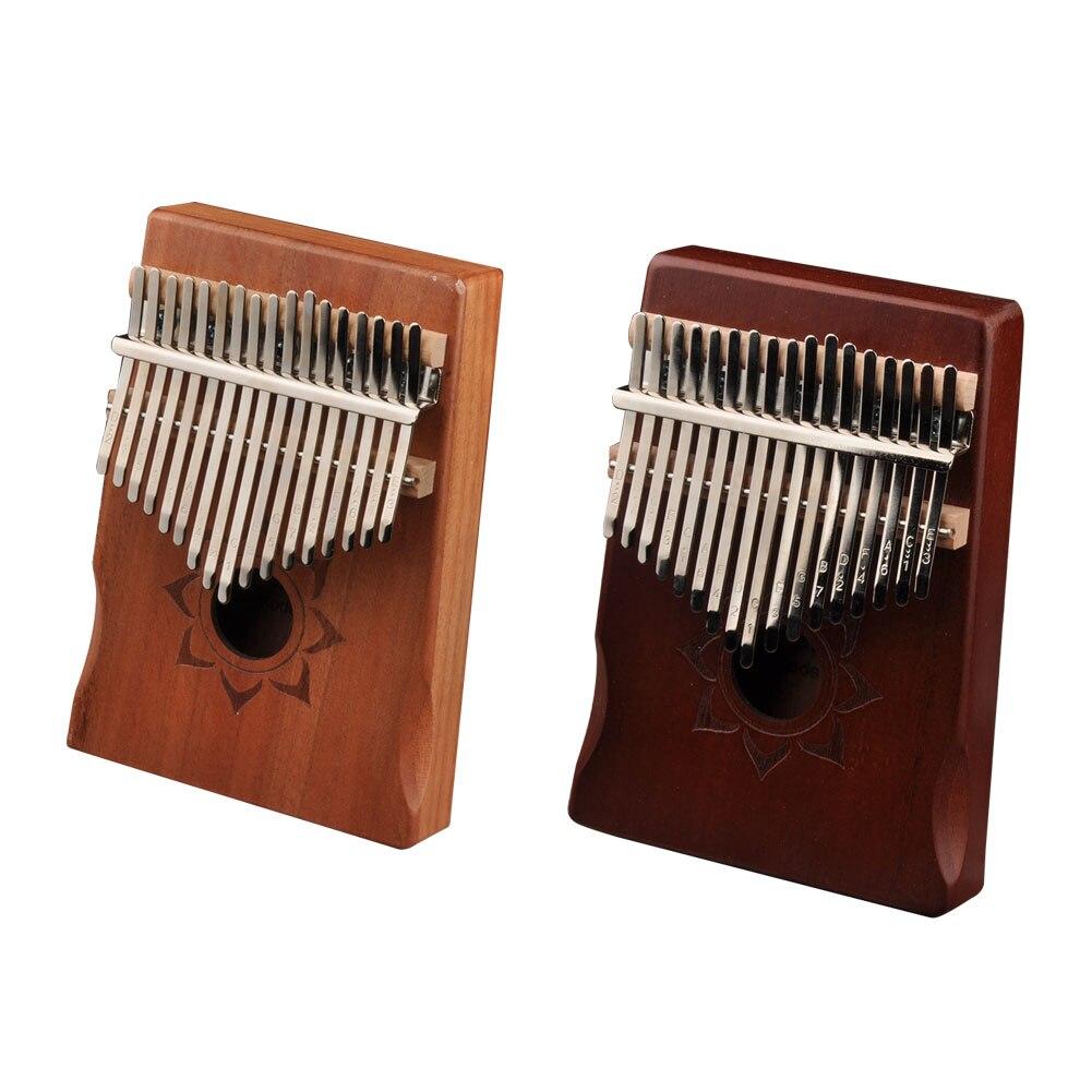 17 клавиш Kalimba большой палец Пианино музыкальный инструмент для начинающих Африканский калимба с аксессуаром 17-клавишный палец фортепиано ...