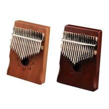 Kalimba africain à 17 touches, corps en acajou, avec accessoire,piano à pouces, instrument de musique idéal pour les débutants,