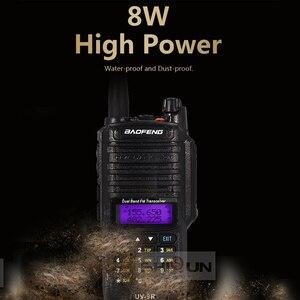 Image 4 - 8W Baofeng UV 9R IP67 Waterproof Dual Band 136 174/400 520MHz Ham Radios 10KM Baofeng 8W Walkie Talkies 10 KM UV 9R UV 82 UV XR