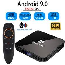Transpeed X3 PRO Android 9.0 8K TV BOX ultra hd 4K XDR Youtube 1000M 5G wifi Amlogic S905X3 4GB 32GB 64GB ensemble décodeur TV