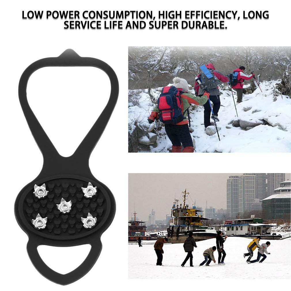Tree-on-Life 1pair Hot New Walking Cleat Ice Gripper Anti Slip Ice Snow Walking Shoe Spike Grip Camping Climb Ice Crampon Ice shippng Libero
