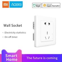 цена на Aqara Smart Wall Socket ZigBee wifi Control Wireless Remotel Wall Outlet Switch Work For Apple HomeKit/Mijia APP