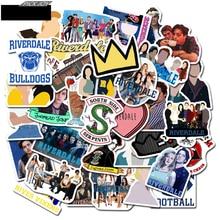 50pcs/set riverdale Stickers for Laptop Skateboard Home Decoration Car Styling Vinyl Decals Doodle TV Fans Toys Cool DIY works