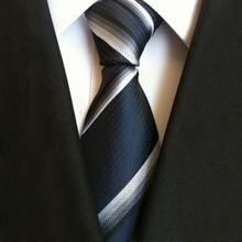 New Formal Ties For Men Women Classic Silk Dark Striped Tie Business Necktie Accessories Gifts for Work Colleagues