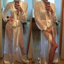 Gown Bathrobe Dressing-Gown Babydoll-Nightdress Slips Women Long Sexy Summer Wear No