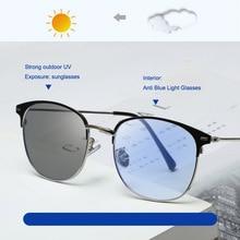 Feishini Anti Blue Light Glasses Women Oval Blocking Filter