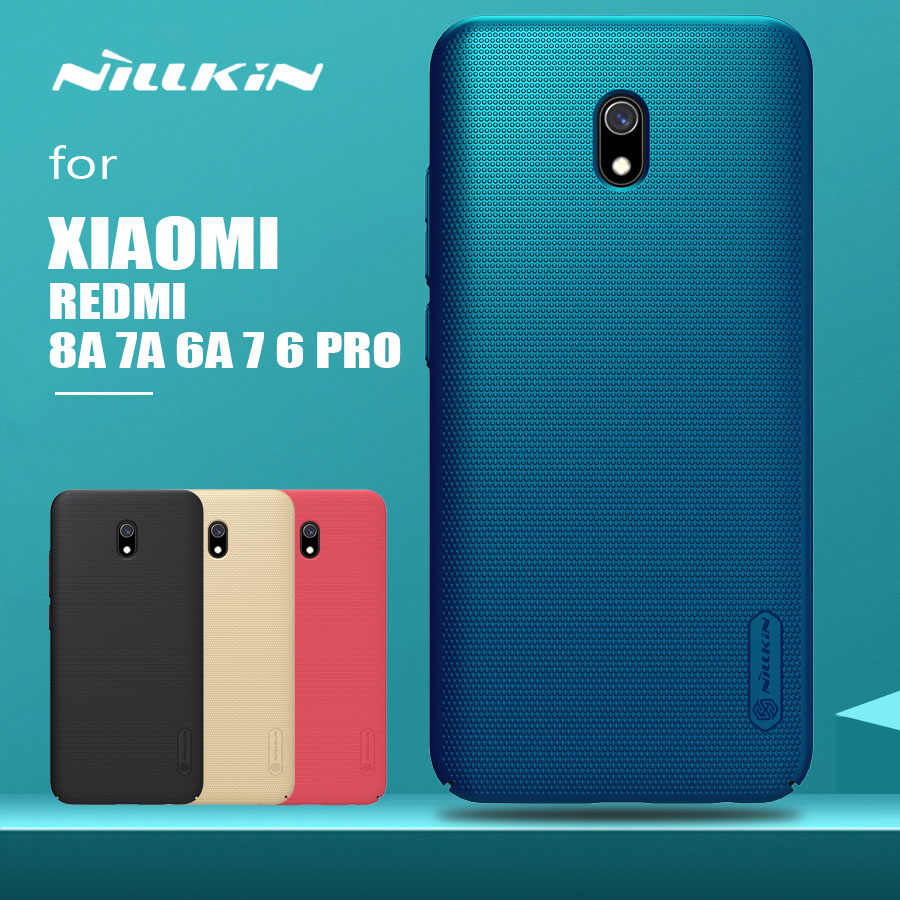 Voor Xiaomi Redmi 8A 7A 7 6A 6 Pro Case Nillkin Frosted Shield Hard PC Back Cover voor Xiaomi Redmi 8A 7A 6A 5A 7 6 Pro Telefoon Geval