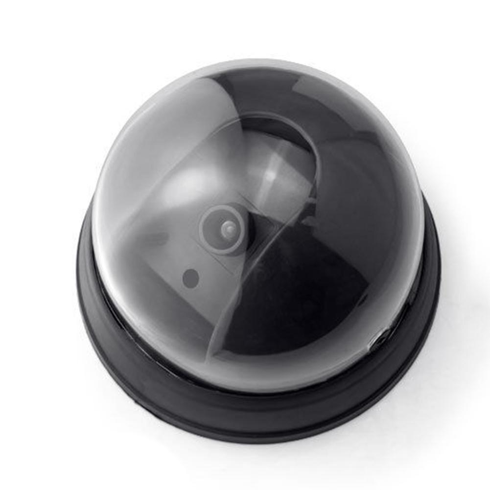 Fake Dummy Dome Surveillance Monitor Security Camera With LED Sensor Light