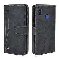 Funda Vintage de lujo para Xiaomi Mi Max 2 3, Funda de cuero con tapa, billetera de silicona, Fundas para tarjetas de negocios