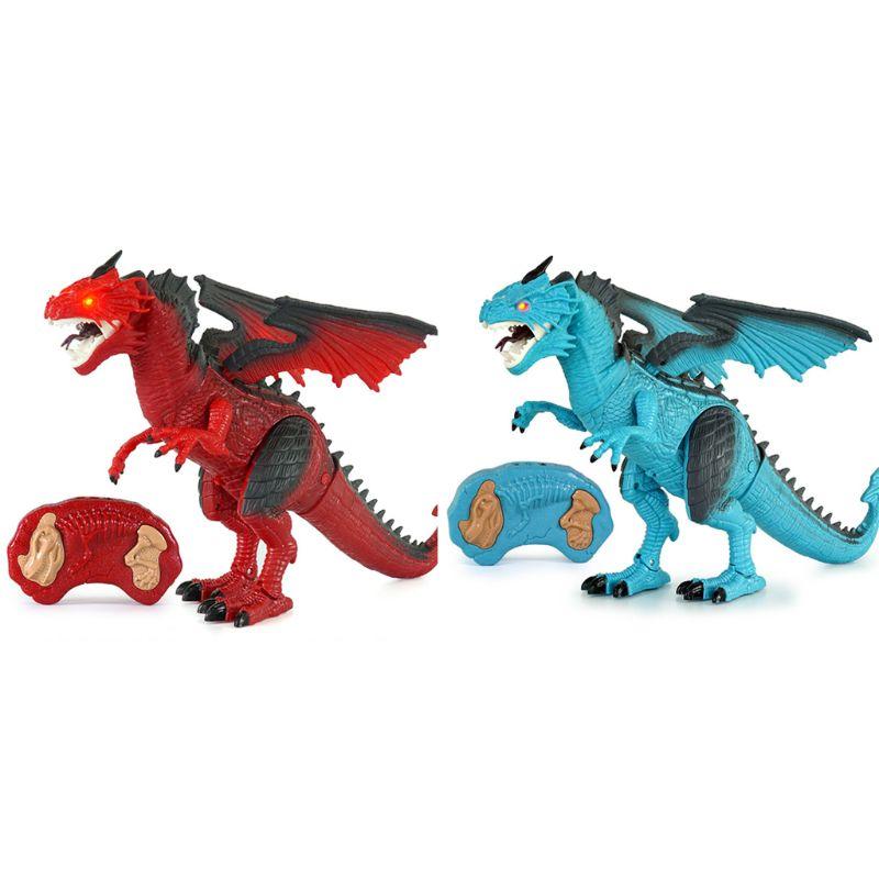 brinquedo do dinossauro de controle remoto brinquedo do dinossauro com passeio simulado rugido spray presente aniversario