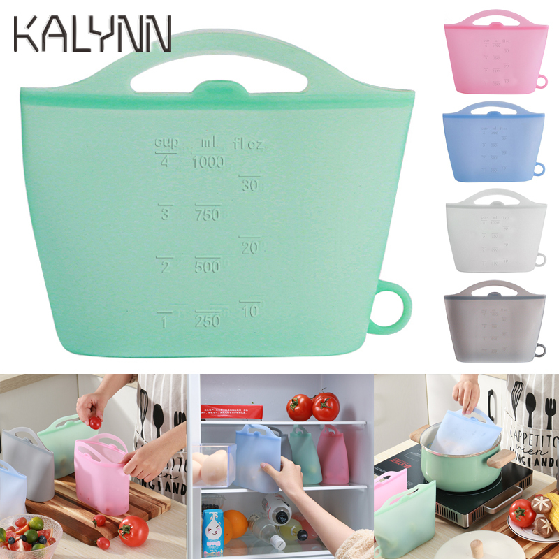 Food Silicone Food Storage Bag Reusable Ziplock Bags For Food Storage Airtight Seal Microwave Safe Fruit Vegetable Storage Bag
