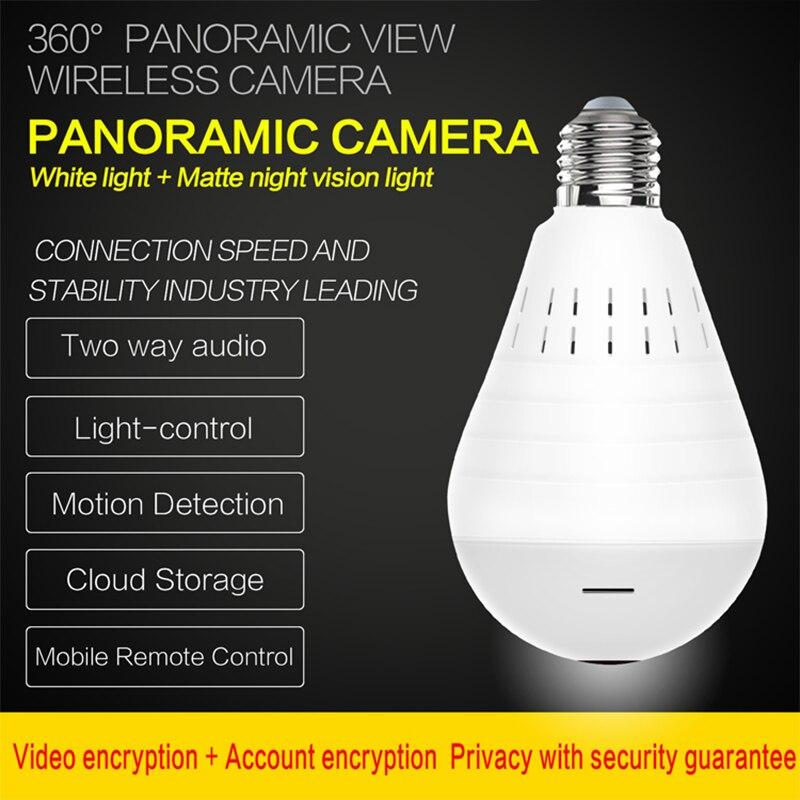 Videcam Wifi Panorama Camera Security Lamp Panoramic Bulb CCTV Video Wireless Ip Camera Surveillance Fisheye HD Camera 6