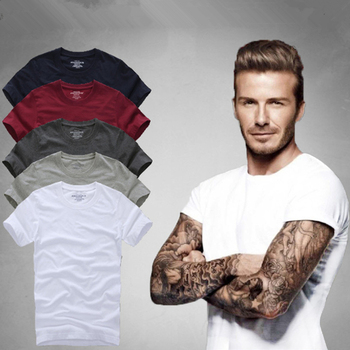 Top Quality Mens T Shirts Fashion 2018 Short Sleeve 100% Cotton T-shirt Summer Brand Casual Male Tops & Tees Clothing