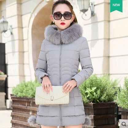 Witte Eend Donsjack Herfst Winter Jas Vrouwen Kleding Warme Lange Jas Parka Uitloper Plus Size Ropa Mujer ZT5005