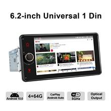 "Joying 1 Din Android Radio Auto Stereo Autoradio 6.2 ""Universele Head Unit Gps Navigatie Bluetooth Wifi Multimedia Dvd speler"