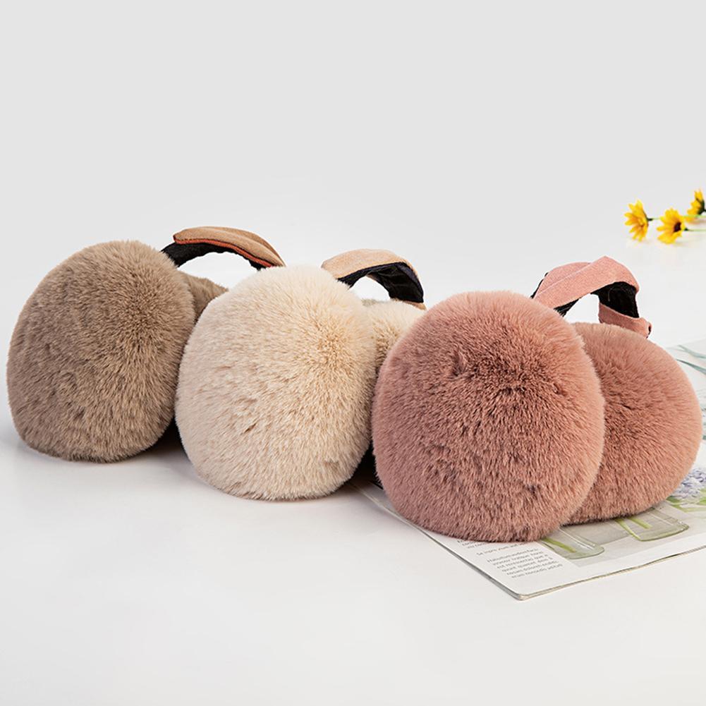 2019 New Winter Earmuff Plush Women Fur Earmuffs Winter Ear Warmers Cartoon Ear Style Large Plush Warm Earmuffs Ear Package