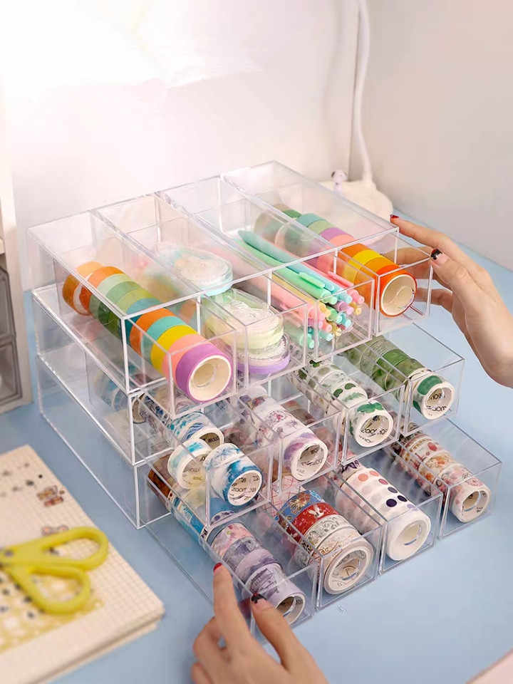 4 Lagen Multifunctionele Opbergdoos Glazen Zonnebril Case Briefpapier Organizer Pen Potlood Tape Houder Display