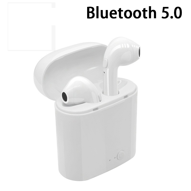 Mini Bluetooth Earphone 5.0 i7 TWS Wireless Earbuds for Iphone X XR XS Samsung S8 S9 Note 10 Plus Xiaomi Huawei Phone Headphones image