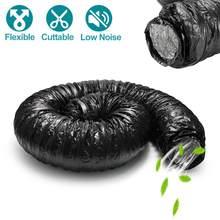 Silencieux pour conduits flexibles de 5m | Tuyau de Ventilation à faible bruit, tuyau de conduit d'air isolé en Fiber d'aluminium en verre pour ventilateur à conduit en ligne