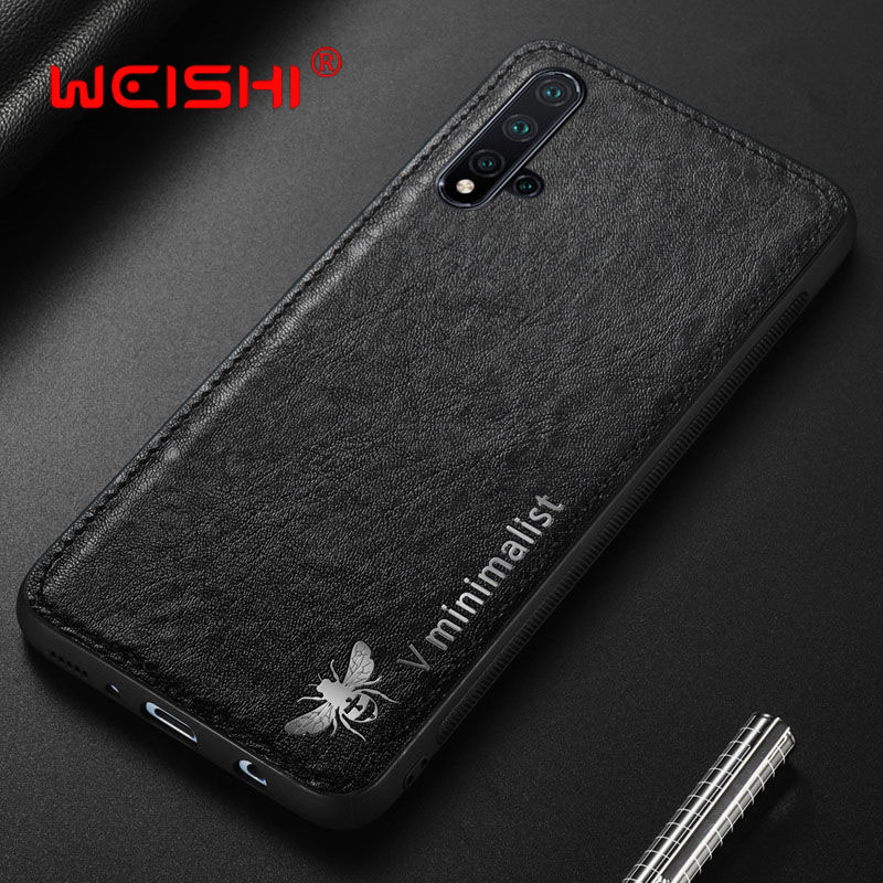 <font><b>Case</b></font> For Huawei P30 Lite <font><b>Honor</b></font> 20 Pro 9X <font><b>8X</b></font> Luxury Vintage Leather <font><b>Magnetic</b></font> Car Hold Back Cover For Huawei Nova 5 Pro 5T <font><b>Case</b></font> image