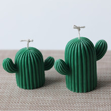Handmade Cactus Silicone Candle Mold 2 Sizes Aromatherapy Fragrance Plaster Making Supplies Homemade DIY Gum Paste Chocolate