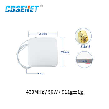 433MHz 8.0dBm Antena Wifi de alta ganancia SMA-J 50W Antena aérea de TX433-PB-2626 direccional