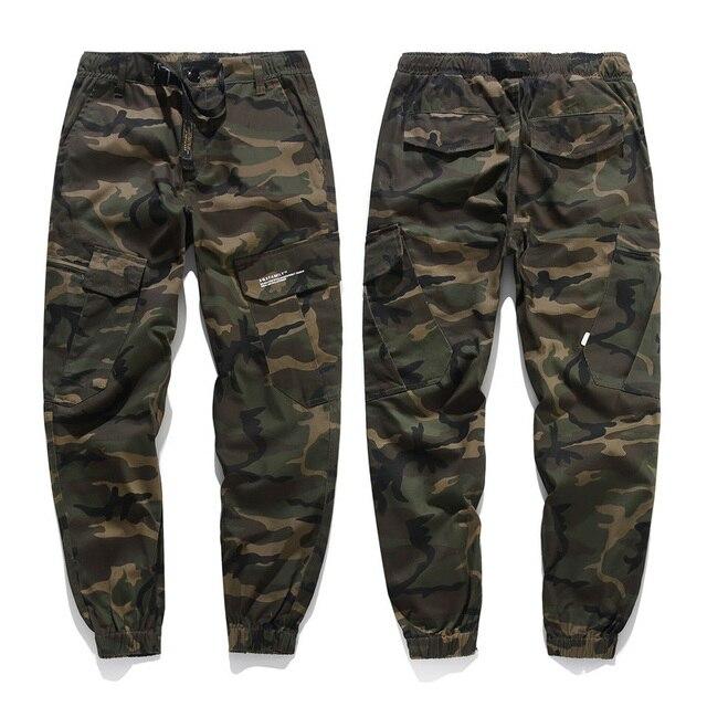 LOMAIYI Camo Joggers Men Cargo Pants Mens Military Black/Camouflage Pants Pure Cotton Men's Cargo Trousers With Pockets BM305 5