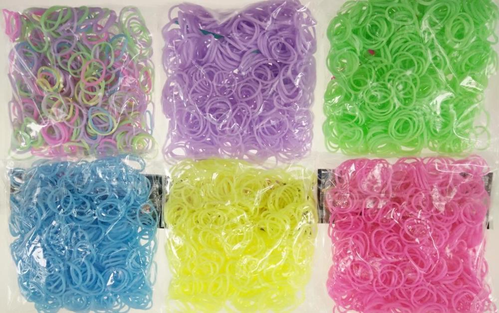 600pcs Loom Rubber Bands Bracelet Rainbow Rubber Loom Bands Make Woven Bracelet DIY Toys Christmas 2019 Gift  For Kids Or Hair