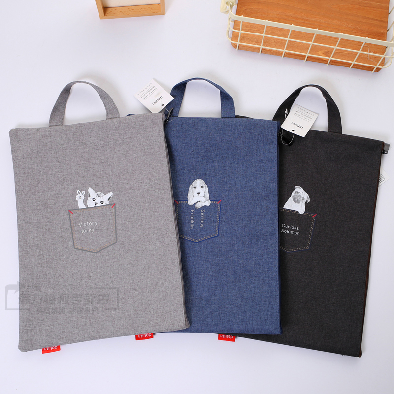 Canvas Document Bag Padded Waterproof Oxford Cloth Outdoor Portable Carrying Bag Storage Bag