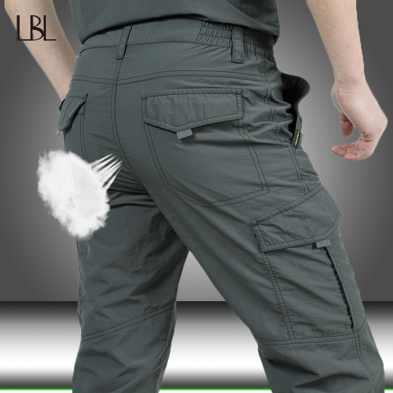 Trousers Cargo-Pants Bottom Military-Style Army Quick-Dry Waterproof Men Casual Summer