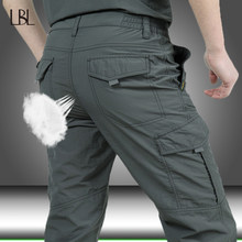 Pantaloni tattici uomo estate Casual esercito pantaloni stile militare pantaloni Cargo da uomo pantaloni impermeabili ad asciugatura rapida fondo maschile