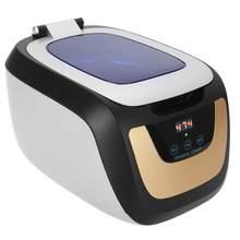 750ml inteligente ultra-sônico cleaner aço inoxidável ultra-som de lavagem para óculos jóias pedras navalha cortadores ue 220v 50w