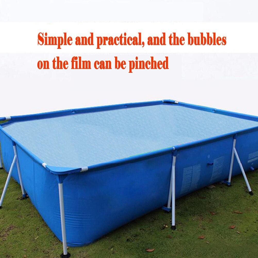 Capa protetora para piscina, capa retangular solar com calor