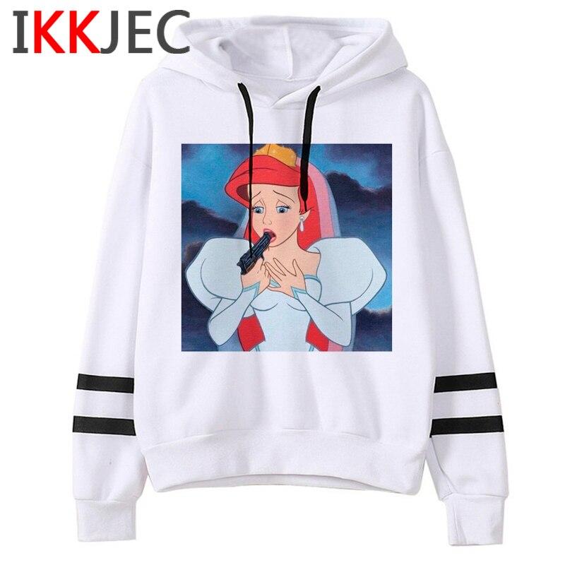 Aesthetic Harajuku Funny Cartoon Hoodies Women/men Grunge Princesses Vintage Sweatshirt 90s Graphic Fashion Hoody Female/male 25