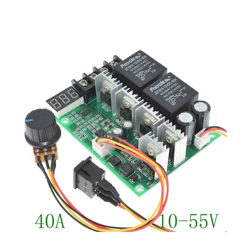 12V24V36V48 PWM DC Motor Governor Promise Brush Motor Forward And Reverse Switch Digital Display Positioning Module