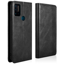 For Umidigi A7 Pro Wallet Case Vintage Style PU Leather Magnetic Flip Stand Cover with Card Slots Shell For Umidigi A7 Pro Case