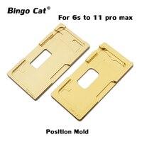 Molde de alineación de molde de posición de pantalla LCD para iPhone 6 6S 6P 6SP 7 7P 8 8P molde de ubicación LCD pantalla táctil de cristal LCD Kits de herramientas de reparación de teléfono     -