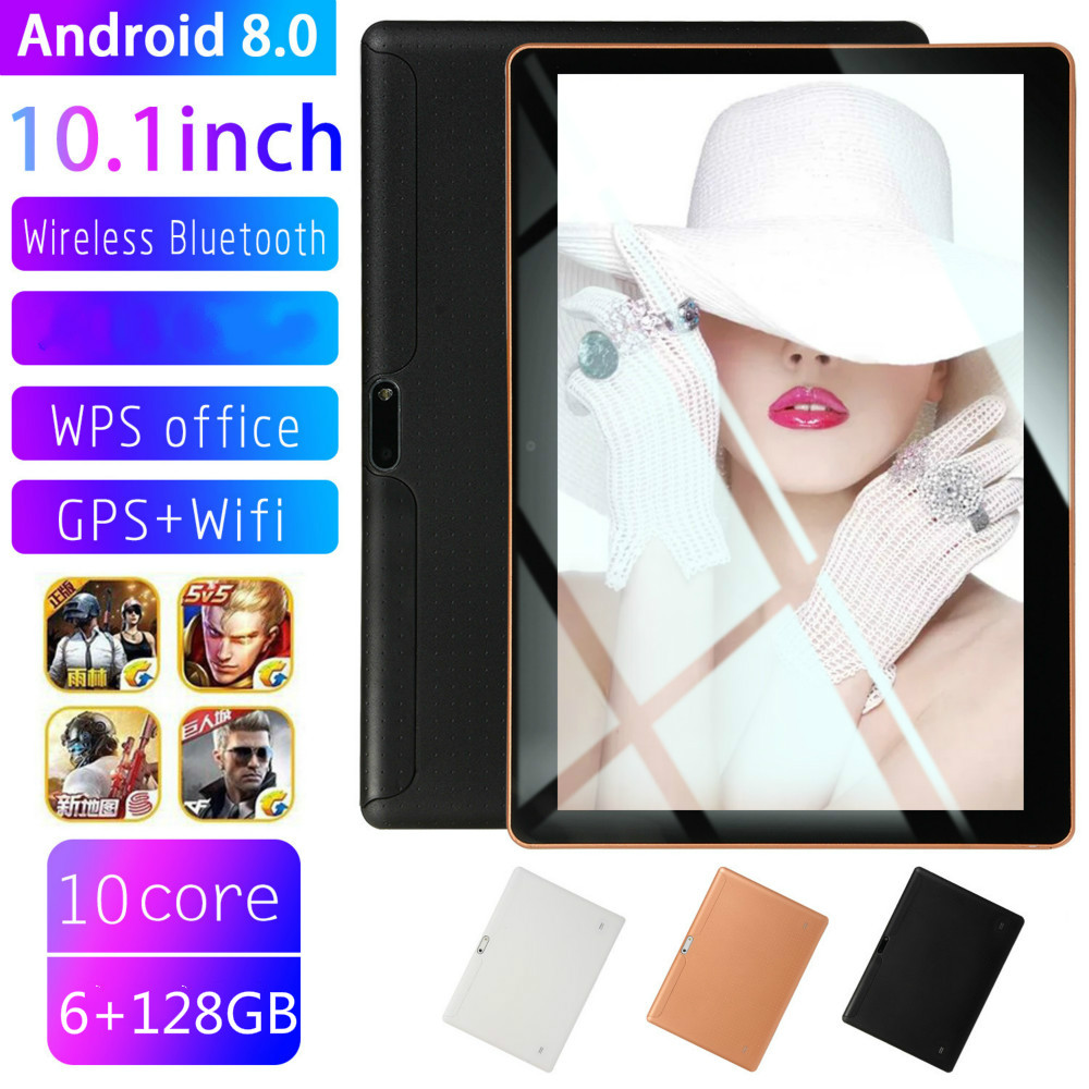 2020 New 10.1 Inch Android Tablet Dual SIM 4G Phone Tablet WIFI Andriod 8.0 Ten Core Tablet With 6G + 128GB Memory Phone Pad