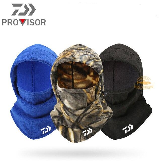 Winter DAIWA Fishing Mask Men's Outdoor Warm and Windproof Cycling Headgear Polar Fleece Face Protection Bib Fishing Hat 1