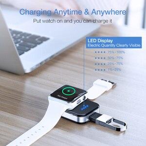 Image 2 - KISSCASE oryginalna bezprzewodowa ładowarka do kluczy Apple i Watch 1 2 3 4 950 mAh przenośna ładowarka bezprzewodowa Power Bank do zegarka